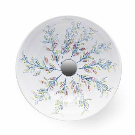 Aufsatzwaschbecken - Bathco Floral II - Klicken Sie auf das Bild um die Galerie zu öffnen