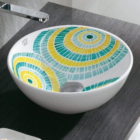 Aufsatzwaschbecken - Bathco Lluvia I - Klicken Sie auf das Bild um die Galerie zu öffnen