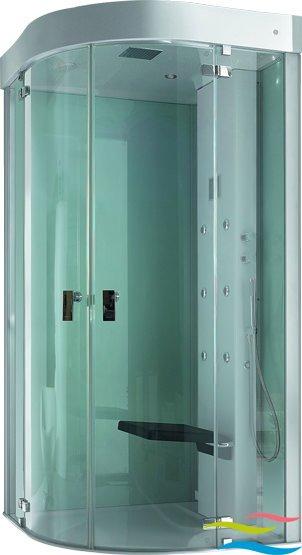 Dampfdusche - Hoesch SenseEase Viertelkreis - Klicken Sie auf das Bild um die Galerie zu öffnen