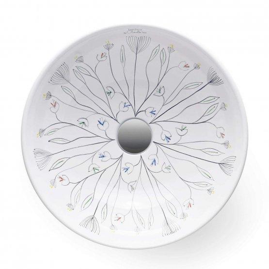Aufsatzwaschbecken - Bathco Floral I - Klicken Sie auf das Bild um die Galerie zu öffnen