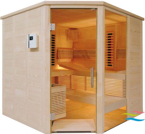 Infrarotkabine - Saunalux Finnia Premium Infrarot - Klicken Sie auf das Bild um die Galerie zu öffnen