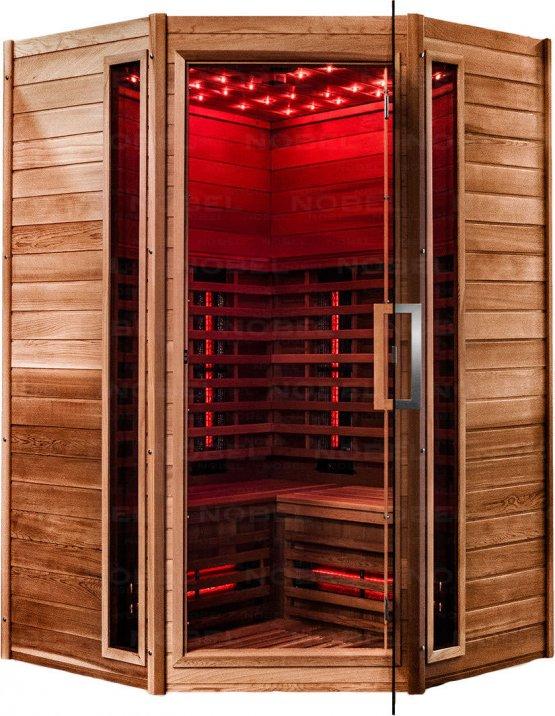 Infrarotkabine - Nobel Sauna 130C Zeder - Klicken Sie auf das Bild um die Galerie zu öffnen