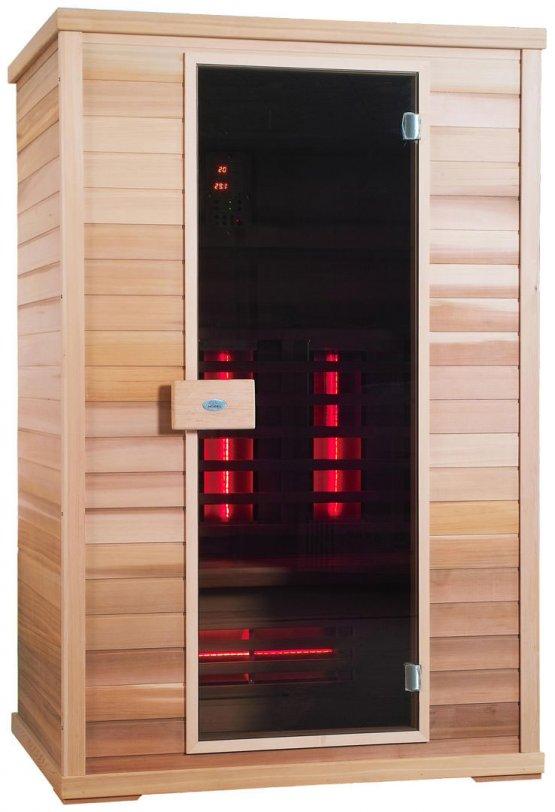 Infrarotkabine - Nobel Sauna 130 Hemlock - Klicken Sie auf das Bild um die Galerie zu öffnen