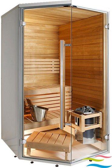 Sauna - Harvia Sirius Eckmodell - Klicken Sie auf das Bild um die Galerie zu öffnen