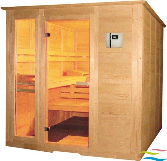 Sauna - Saunalux Finnia 4-Eck (Abverkauf) - Klicken Sie auf das Bild um die Galerie zu öffnen