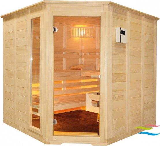 Sauna - Saunalux Finnia 5-Eck (Abverkauf) - Klicken Sie auf das Bild um die Galerie zu öffnen