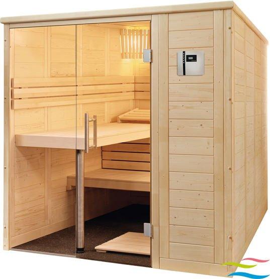 Sauna - Saunalux Finnia Premium 4-Eck - Klicken Sie auf das Bild um die Galerie zu öffnen