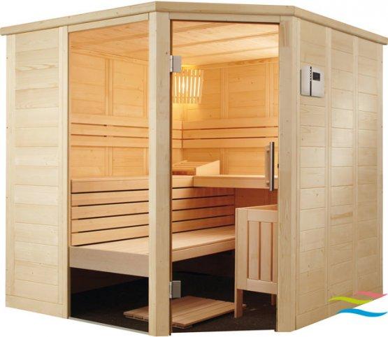 Sauna - Saunalux Finnia Premium 5-Eck - Klicken Sie auf das Bild um die Galerie zu öffnen