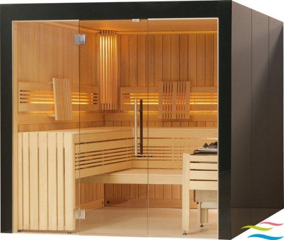 Sauna - Viliv Komfort Plus Colorglas (Grundpreis) - Klicken Sie auf das Bild um die Galerie zu öffnen