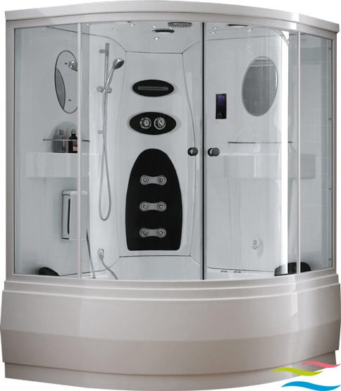 Dampfdusche mit Whirlpool - Wellgems L526 - Klicken Sie auf das Bild um die Galerie zu öffnen