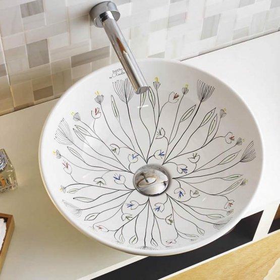 Aufsatzwaschbecken - Bathco Floral I