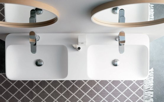 Doppelwaschbecken - Bathco Bari Solid Surface