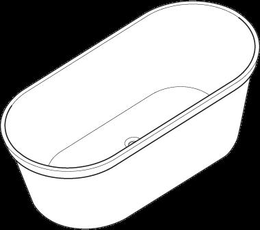 Badewanne - b10 Curve
