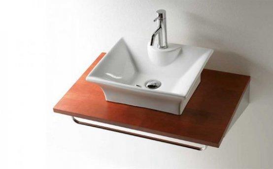 Waschtischplatte - Bathco Kirschholz Top