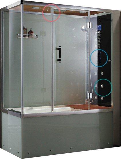 Dampfdusche mit Whirlpool - Grande Home WS110